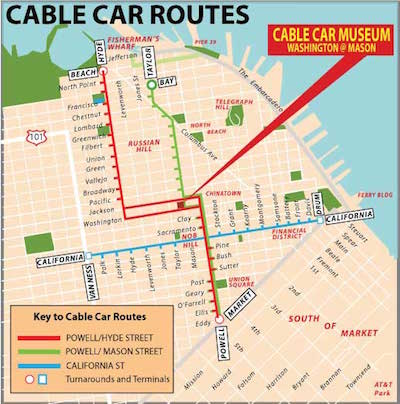 route cable car san francisco